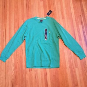 NWT ralph lauren mens long sleeve size L. Teal